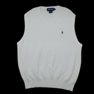 Polo Ralph Lauren White Golf Sweater Vest Large